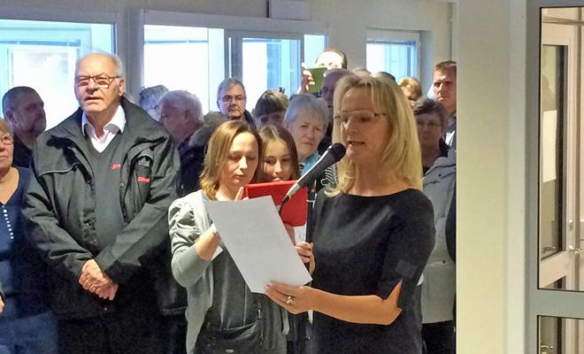 Annelie Lundström invigning Nya Lundbygården