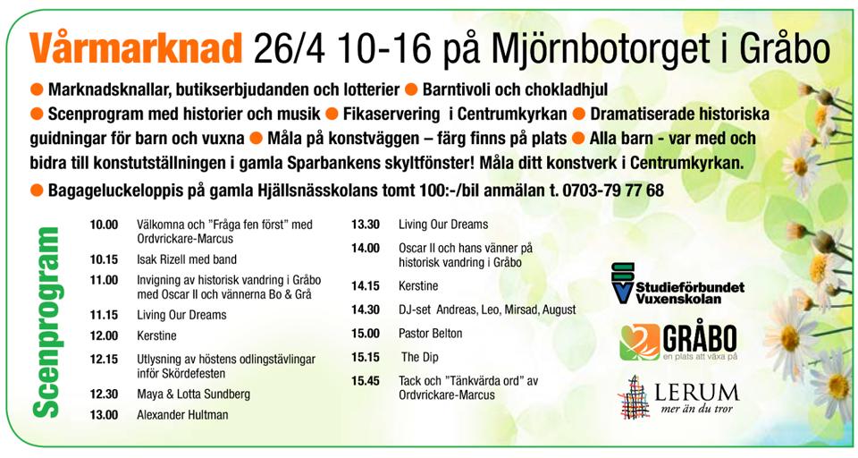 Vårmarknad Gråbo 2014