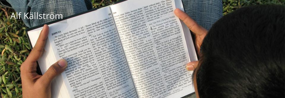 """""""Bibelns plats i mitt liv"""" av Alf Källström"""