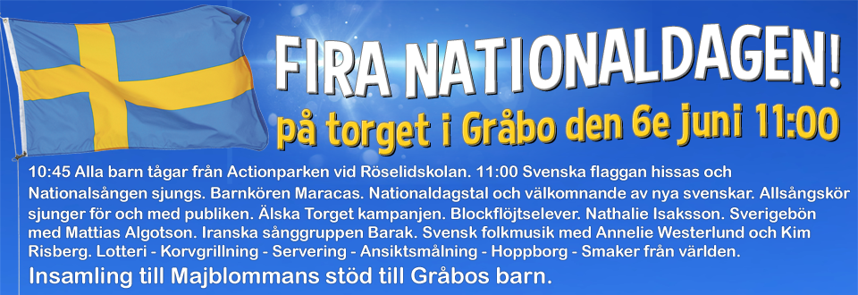 Nationaldagsfirande Grabo 2014