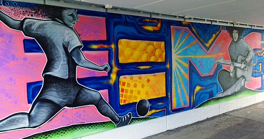 Ingen grå tunnel - Tunnel insida fotboll och einstein (Foto: Karin Gertzén)
