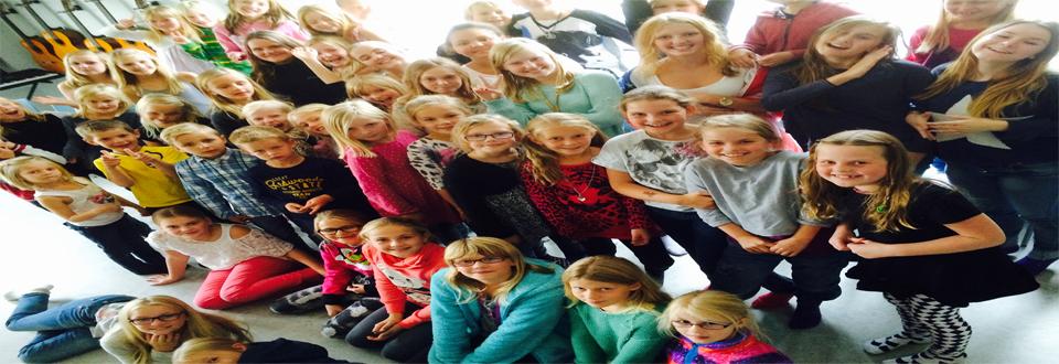 Lekstorpsskolan sjunger för Världens Barn (Foto: Åsa Magnesköld)