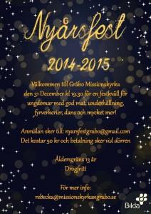 Nyårsfest Gråbo 2014-2015