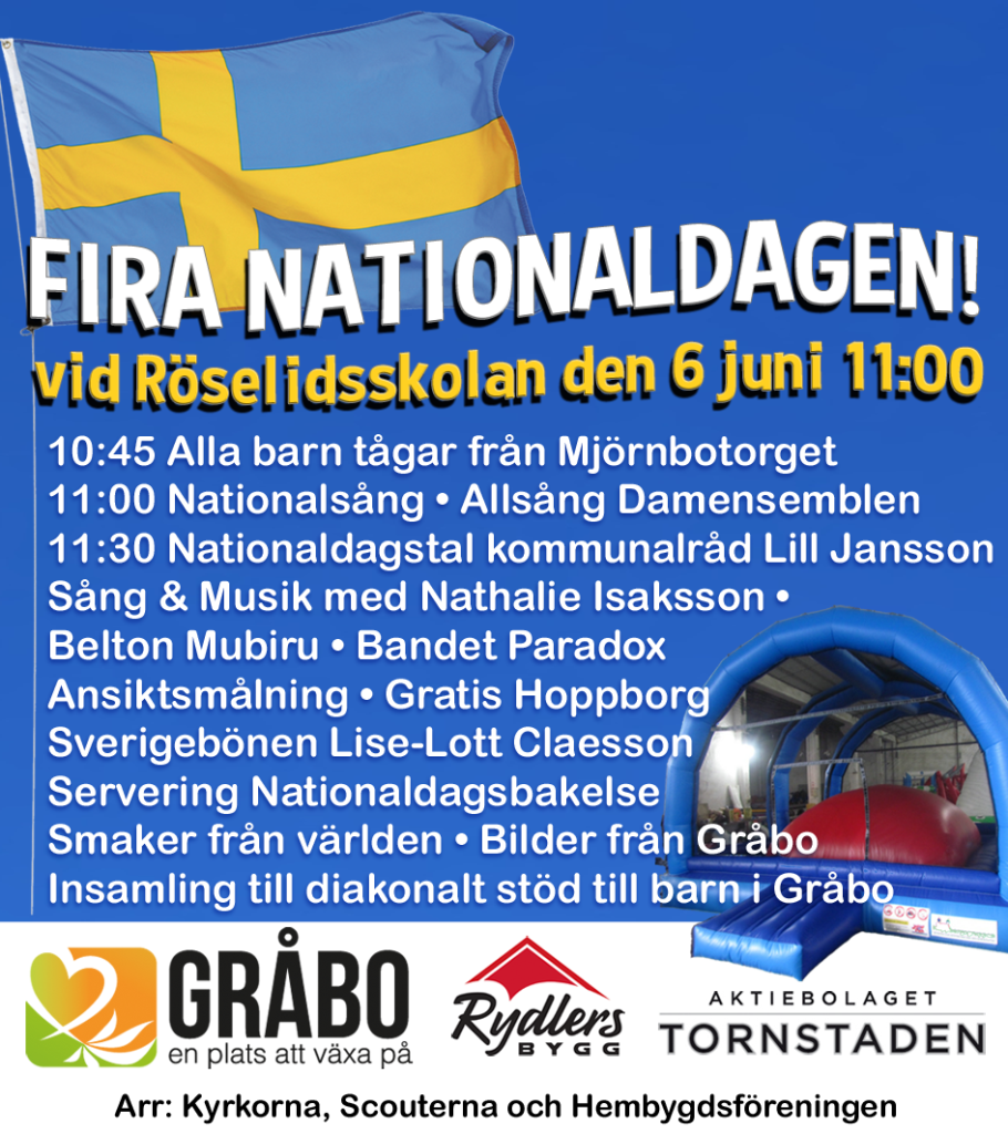 Nationaldagsfirande Gråbo 2016