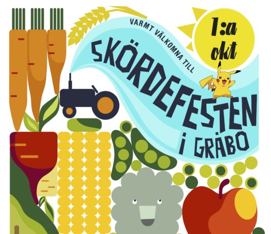 Skördefest Gråbo 2016 Affisch